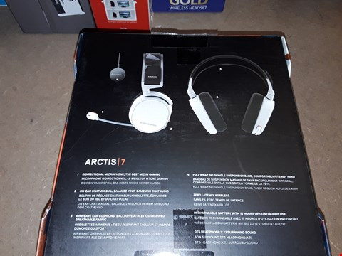 Lot 4386 STEELSERIES ARCTIS 7, LAG-FREE WIRELESS GAMING HEADSET