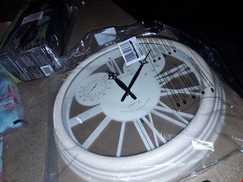Lot 7155  BRAND NEW EXETER WALL CLOCK & THERMOMETER  RRP £40.00