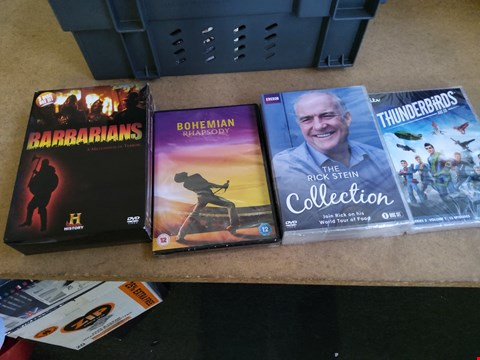 Lot 2568 BOX OF APPROXIMATELY 17 ASSORTED DVDS INCLUDING 3RD ROCK FROM THE SUN , BOHEMIAN RHAPSODY , DISNEY THE GOOD DINOSAUR AND DAS BOOT SEASON ONE , BOX NOT INCLUDED