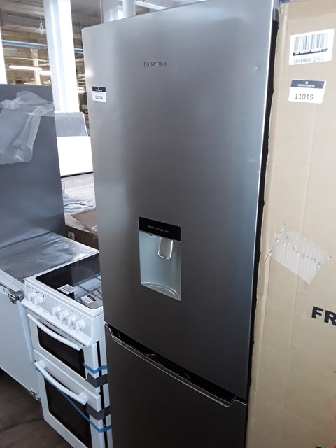 Lot 11014 HISENSE RB381N4WC1 FROST-FREE FRIDGE FREEZER WITH WATER DISPENSER - STAINLESS STEEL LOOK
