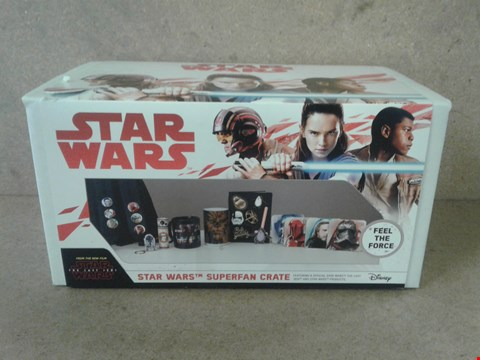 Lot 243 BRAND NEW BOXED STAR WARS SUPER FAN CRATE