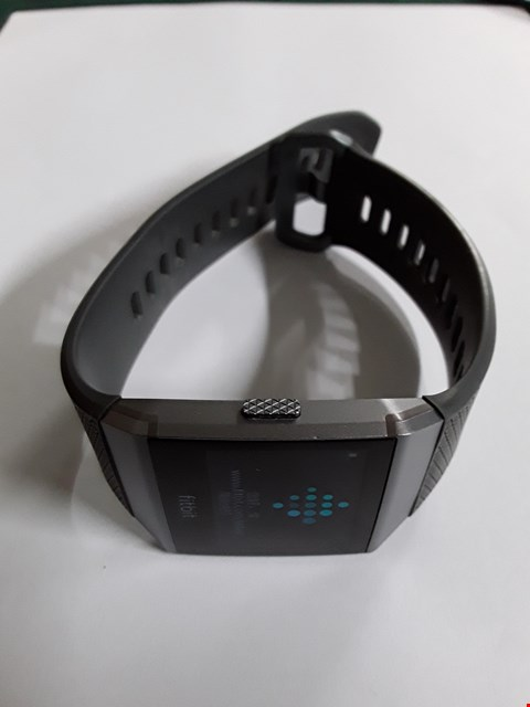 Lot 722 FITBIT IONIC FB503 - SMOKE GREY, GREY RUBBER STRAP