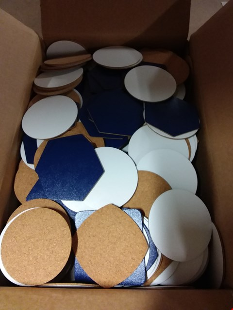 Lot 594 BOX OF APPROXIMATELY 500 MIXED LEATHER COASTERS