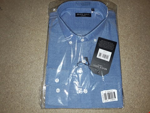 Lot 122 BOX OF APPROXIMATELY 8 MEDIUM BLUE BRAVE SOUL LONDON SHIRTS