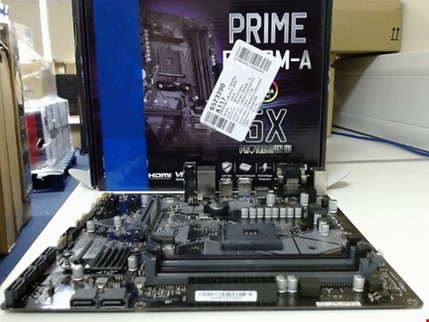 Lot 15016 ASUS PRIME B450M-A MICRO ATX MOTHERBOARD, AMD SOCKET AM4, RYZEN 3000 READY