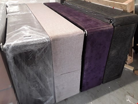 Lot 7107 FOUR ASSORTED FABRIC DIVAN SECTIONS