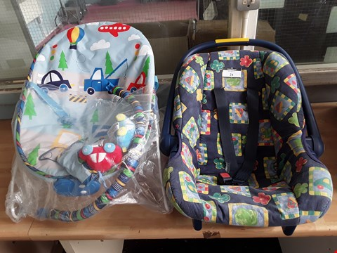 Lot 24 TWO ITEMS, BABY CARRIER & BABY BOUNCER