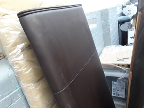 Lot 2138 140CM BROWN FAUX LEATHER HEADBOARD