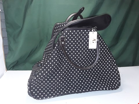 Lot 15 ANNA GRACE BLUE HANDLE BAG ON WHEELS WITH WHITE STARS