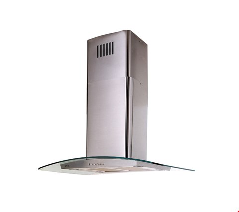 Lot 12011 BELLING 90 DIH 90CM WIDE ISLAND COOKER HOOD