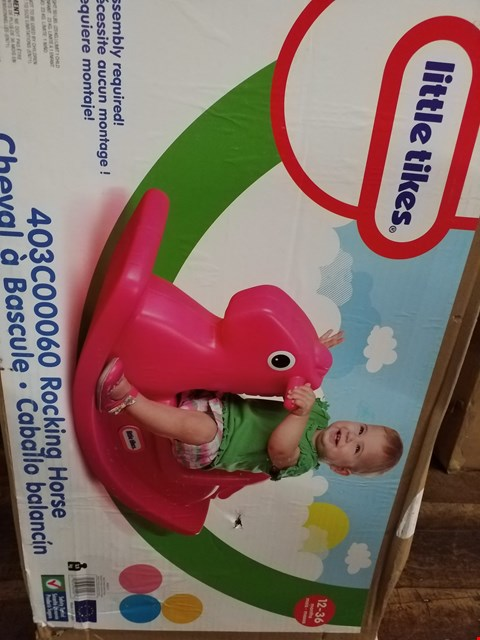 Lot 3381 BOXED LITTLE TIKES ROCKING HORSE  RRP £30.00