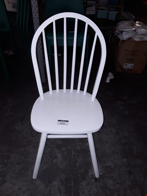 Lot 8055 LOT OF 2 WHITE PAINTED FINISH DINING CHAIRS