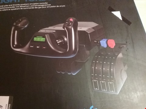 Lot 4137 LOGITECH FLIGHT YOKE SYSTEM FLIGHT SIM CONTROLLER