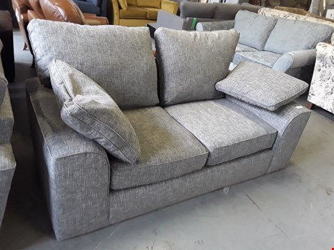 Lot 2010 QUALITY BRITISH DESIGNER GREY WEAVE FABRIC NANTUCKET 2 SEATER SOFA