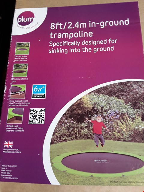 Lot 153 PLUM 8FT IN-GROUND TRAMPOLINE (2 BOXES)