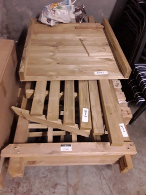 Lot 17305 LOT OF ASSORTED WOODEN GARDEN FURNITURE PARTS
