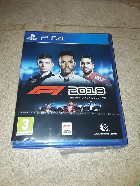 Lot 9294 F1 2018 PS4 GAME RRP £55.00
