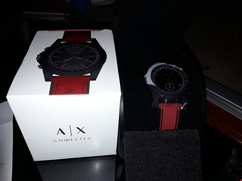Lot 7200 BRAND NEW ARMANI EXCHANGE CONNECTED RED SILICONE HYBRID SMART WATCH  RRP £209