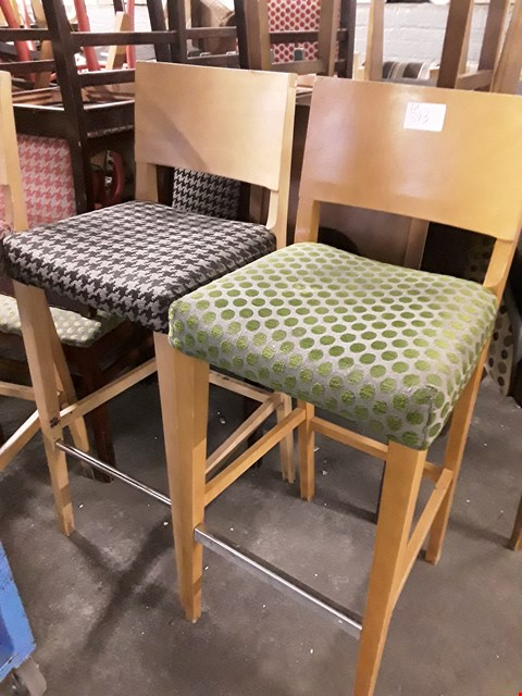 Lot 44 APPROXIMATELY 5 ASSORTED WOODEN HIGH BAR STOOLS