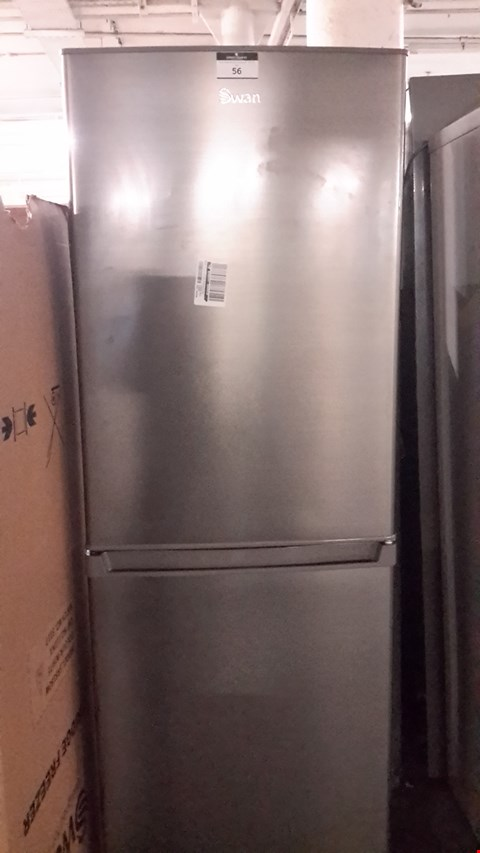 Lot 56 SWAN STAINLESS STEEL SR8160 172CM 50/50 FRIDGE FREEZER RRP £279.99
