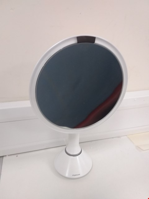 Lot 706 BOXED SIMPLY HUMAN SENSOR MIRROR WITH 5X MAGNIFICATION