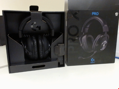 Lot 15090 LOGITECH G PRO X GAMING HEADSET (2ND GENERATION) WITH BLUE VO!CE, DTS HEADPHONE:X 7.1 AND 50 MM PRO-G DRIVERS (FOR PC, PS4, SWITCH, XBOX ONE, VR) - BLACK