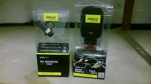 Lot 70 TWO BOXED JABRA PRODUCTS, BLUETOOTH HEADSET & DRIVE & TALK KIT