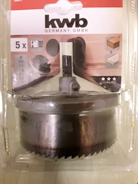 Lot 8885 KWB KRAFTIXX 498477 HOLE SAW SET