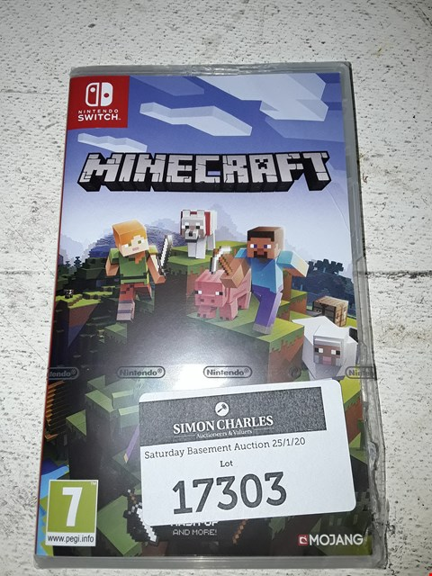 Lot 17303 MINECRAFT FOR NINTENDO SWITCH