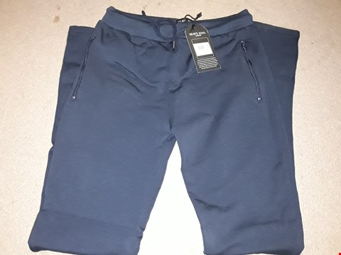 Lot 123 BOX OF APPROXIMATELY 8 NAVY BLUE MEDIUM BRAVE SOUL JOGGERS