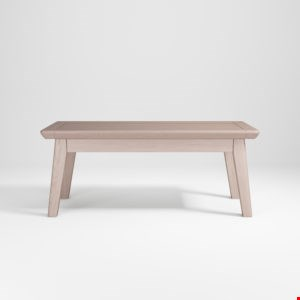 Lot 12140 BRAND NEW BOXED SMOKED OAK FINISH 110CM BENCH