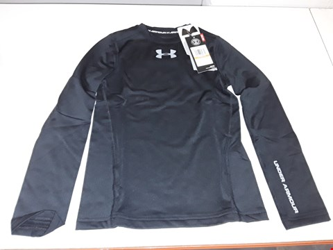 Lot 5341 BAGGED BRAND NEW UNDER ARMOUR BOYS COLDGEAR LONG SLEEVE SHIRT - SIZE YSM IN BLACK
