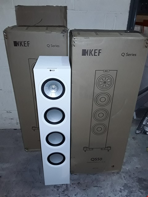 Lot 48 BOXED PAIR OF KEF Q-SERIES Q550 FREESTANDING SPEAKERS - WHITE (2 BOXES)
