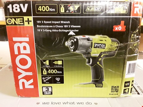 Lot 1478 RYOBI R18W3 18V 3 SPEED IMPACT WRENCH  RRP £149.99