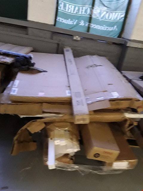 Lot 7016 PALLET OF ASSORTED FLAT PACK FURNITURE PARTS TO INCLUDE BED PARTS ETC