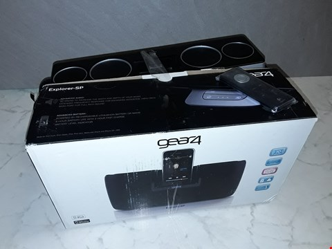 Lot 6126 LOT OF 2 DOCKING SPEAKERS TO INCLUDE BOXED GEAR4 EXPLORER SP AND UNBOXED LOGITECH