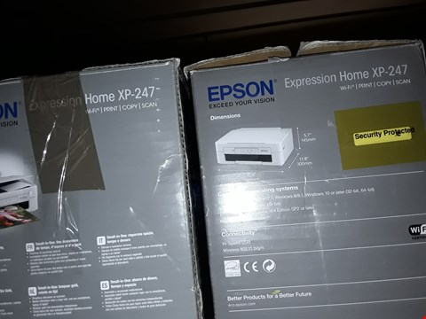Lot 771 2X EPSON XP-247 WIFI PRINTERS
