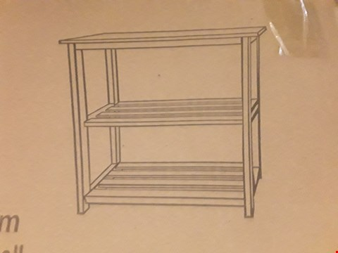 Lot 29 BRAND NEW BOXED OAK EFFECT TWO SHELF UNIT (1 BOX)