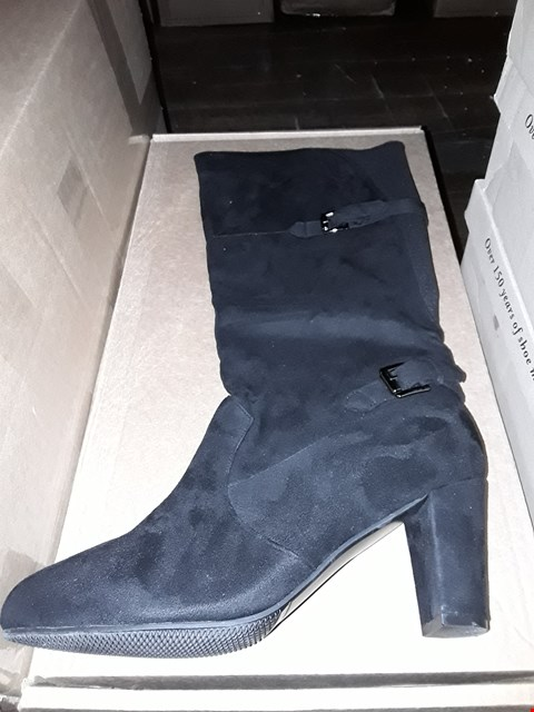 Lot 1301 CUSHION WALK SUEDETTE TALL BUCKLE ANKLE BOOT