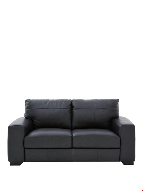 Lot 430 BRAND NEW DESIGNER HAMPSHIRE VINTAGE BLACK SOFA BED RRP £1049
