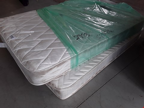 """Lot 54 TWO UNBAGGED 4'6"""" DOUBLE MATTRESSES, INCLUDING AIRSPRUNG LUXURY QUILTED"""