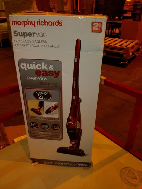 Lot 5575 MORPHY RICHARDS 732005 2-IN-1 SUPERVAC CORDLESS VACUUM CLEANER
