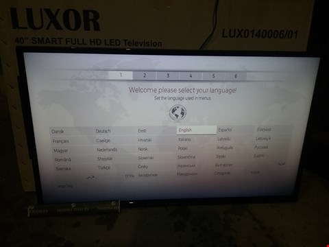 "Lot 17 BOXED LUXOR 40"" SMART FULL HD LED TELEVISION MODEL LUX014006/01"