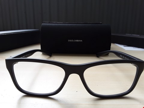 Lot 85 DOLCE & GABBANA STYLE MATTE BLACK SPECTACLES