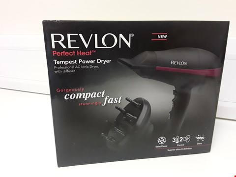 Lot 1777 BOXED REVLON PERFECT HEAT TEMPEST POWER DRYER WITH DIFFUSER