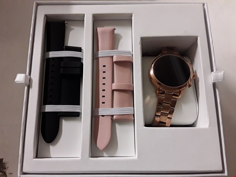 Lot 3061 BOXED MICHAEL KORS SOFIE SMART WATCH ROSE GOLD  RRP £499.00