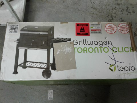 Lot 9512 TEPRO TORONTO CLICK TROLLEY GRILL GAS BARBECUE