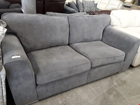 Lot 92 DESIGNER GREY FABRIC THREE SEATER SOFA
