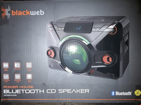 Lot 8390 BLACKWEB POWERHOUSE BLUETOOTH CD SPEAKER