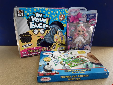 Lot 5038 THREE ASSORTED BOXED TOYS, INCLUDING SHOPKINS DOLL AND THOMAS & FRIENDS FELTY FUN